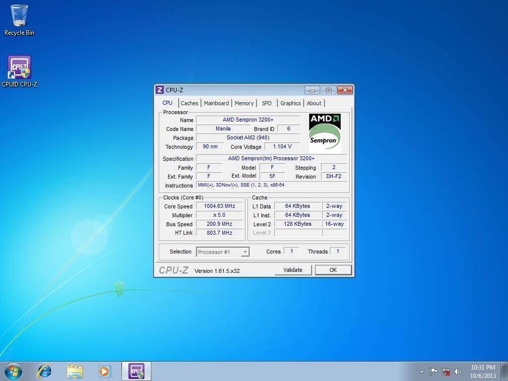 Motherboard Gigabyte AM2 + Sempron 3200