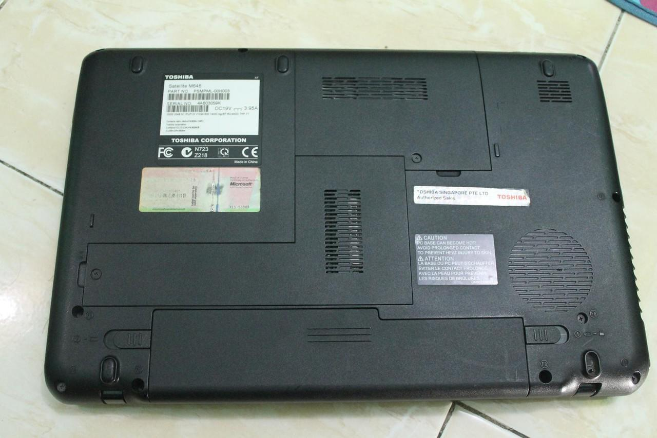 JUAL NOTEBOOK TOSHIBA M645 M350 4gb/500gb /NVIDIA GT 330M + Intel HDGrapichs