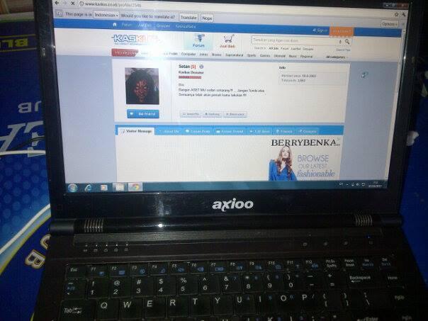 LAPTOP AXIO CORE i3 , RAM 2GB , HDD 320GB ,Jual CEPAT ...MURAAH MERIAH !!! MULUSSSSSS