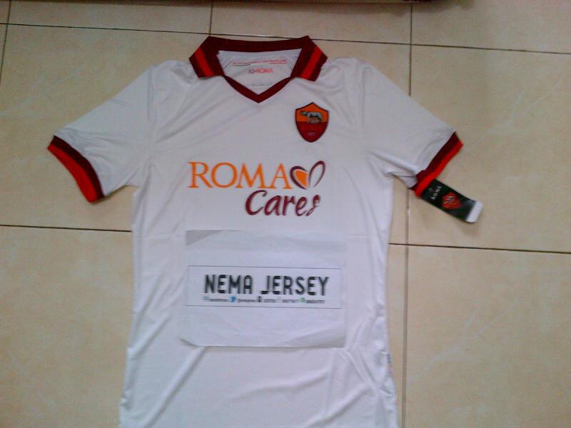 Jual Murah Jersey AS Roma Home & Away Official 13/14 Nameset + Patch Serie A Bandung