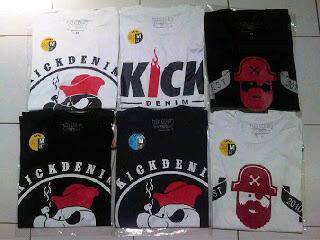 Grosir Kaos Distro PSD,Kick Denim,UNKL,Greenlight,RSCH,Kehed,kiddrock bandung