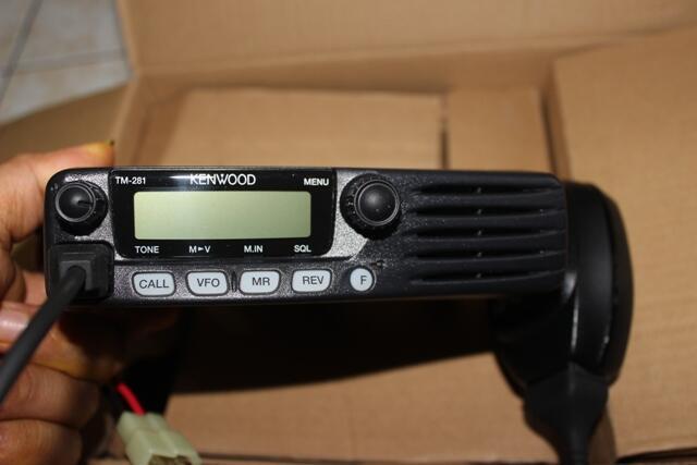[WTS]RADIO RIG KENWOOD TM281A kondisi bagus, mulus, lengkap dusbook, bracket, dll