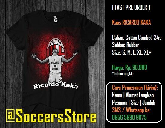 [FAST PO] Kaos Ricardo Kaká (AC Milan) - Desain KEREN GAN!!