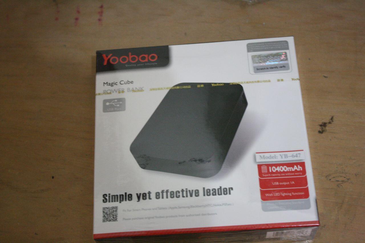 S> POWERBANK YOOBAO 10400 mAH MAGIC CUBE YB-647 ORIGINAL 1000% | RESELLER WELCOME