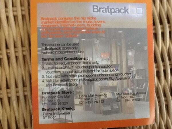Jual voucher VIP produk Distro Bratpack
