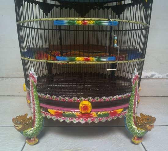 Kandang Burung Perkutut Motif Kaki Naga --ppd63--