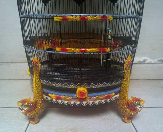 Kandang Burung Perkutut Motif Kaki Naga --upf63--