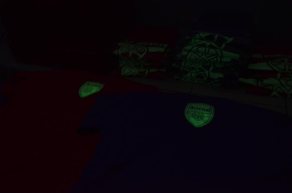 Ready Stock kaos Arsenal Glow In Dark