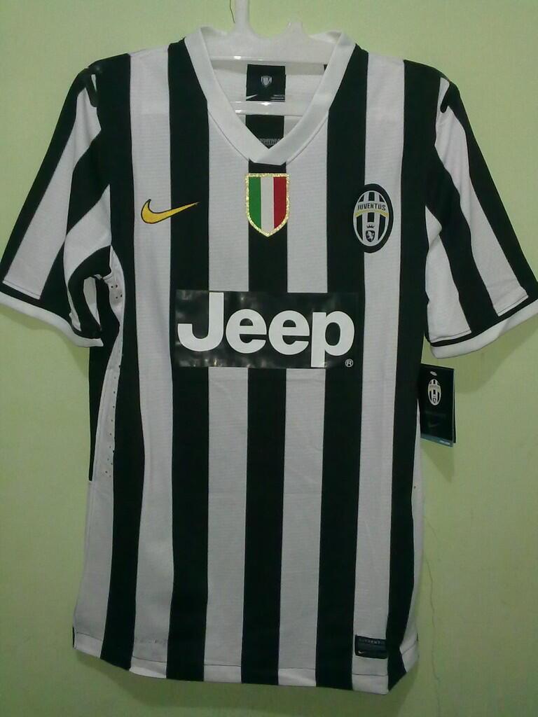 Jersey Grade Ori Juventus Home 2013/2014 Player Issue #23 Vidal