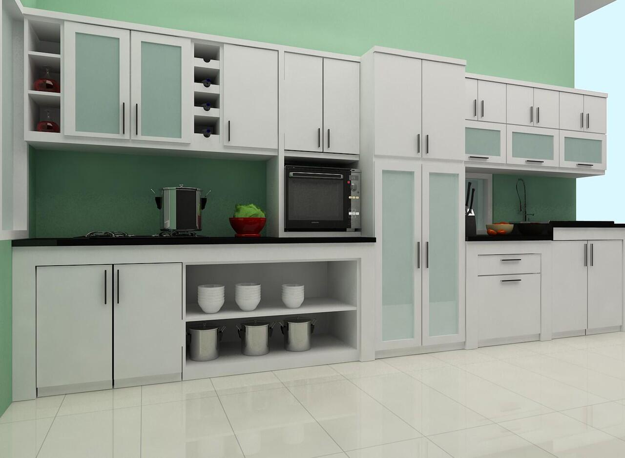 Dapur set model lurus