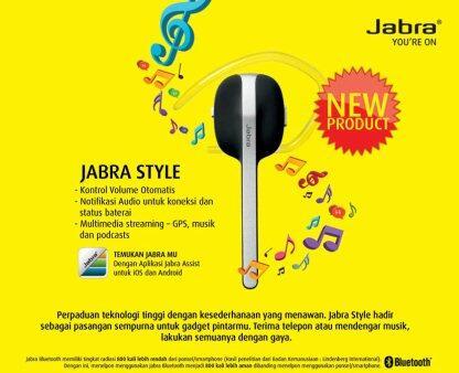 Headset Bluetooth Jabra Style - Bergaransi