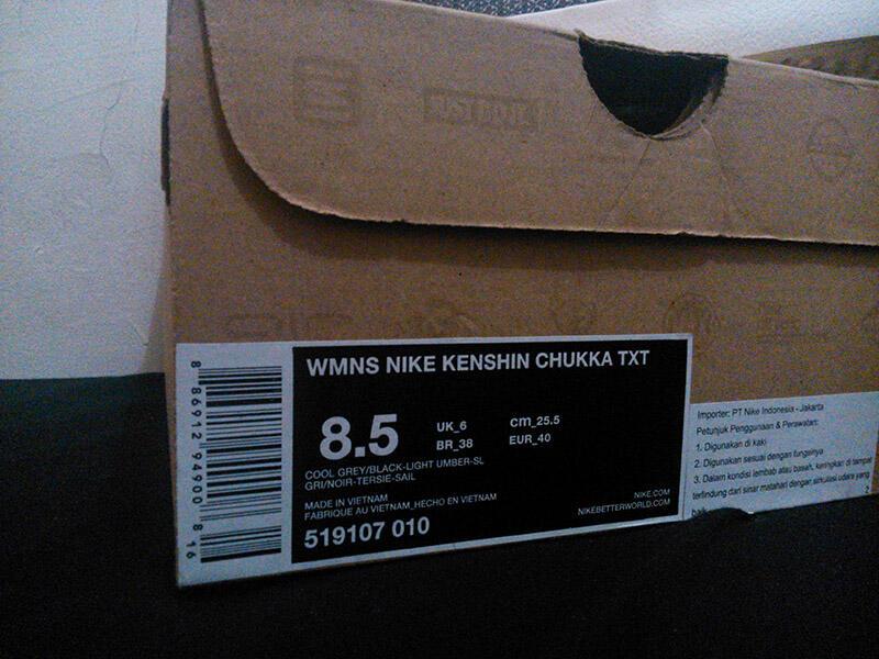 "Sepatu NIKE ""KENSHIN CHUKKA"" (RUN AND SNEAKERS) NEW !"