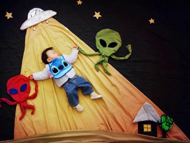 ~๑๑.Foto Cute Bayi Sedang Tidur Oleh Ibu Kreatif.๑๑~