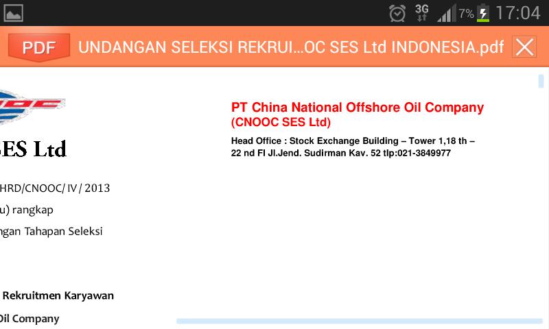 Waspada penipuan mengatasnamakan PT CNOOC SES LTD