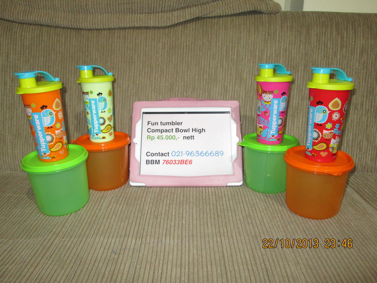JUAL TUPPERWARE FIRST DELIGHT Rp 196500 WTS