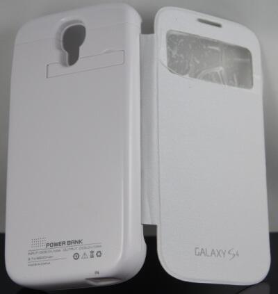 Battere Cadangan / Backup - berbentuk Flip Case Cover untuk Samsung Galaxy S4 -