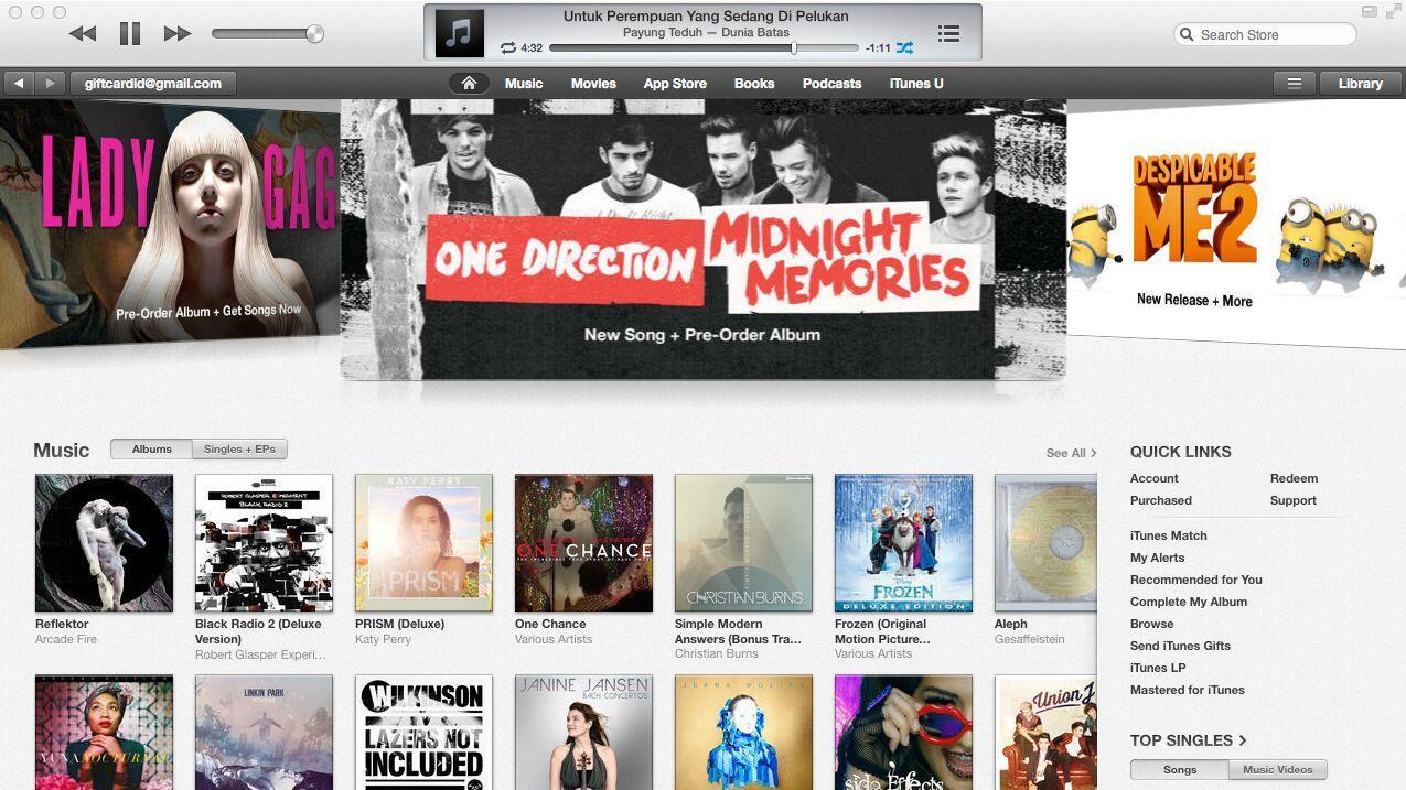 iTunes Gift Card Indonesia Bonus Cendol - Bisa beli Sticker LINE, Gems Clash of Clans