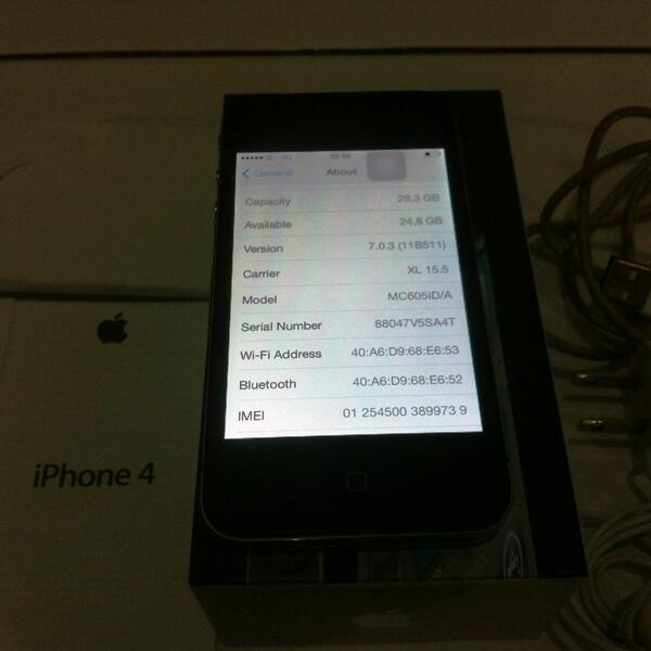 IPHONE 4 GSM 32GB FU BLACK FULLSET LIKE NEW FREE XL12GB MURAH 3350 SAJA [MALANG]