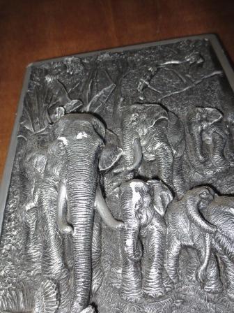 Koleksi diorama pajangan dinding gajah asli thailand ex expat jual cepat murah nego