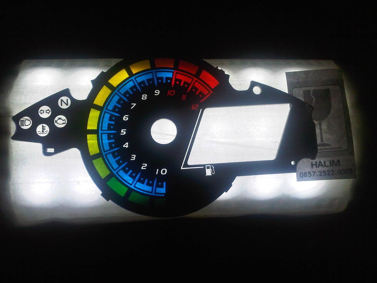 spedometer new vixion lighting
