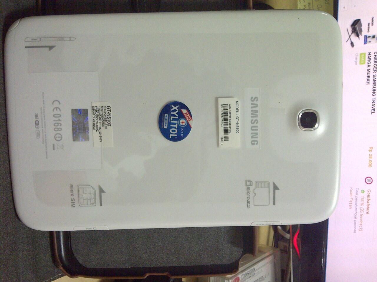 jual sansung note 8.0 N5100 White baru 4 bln pemakaian