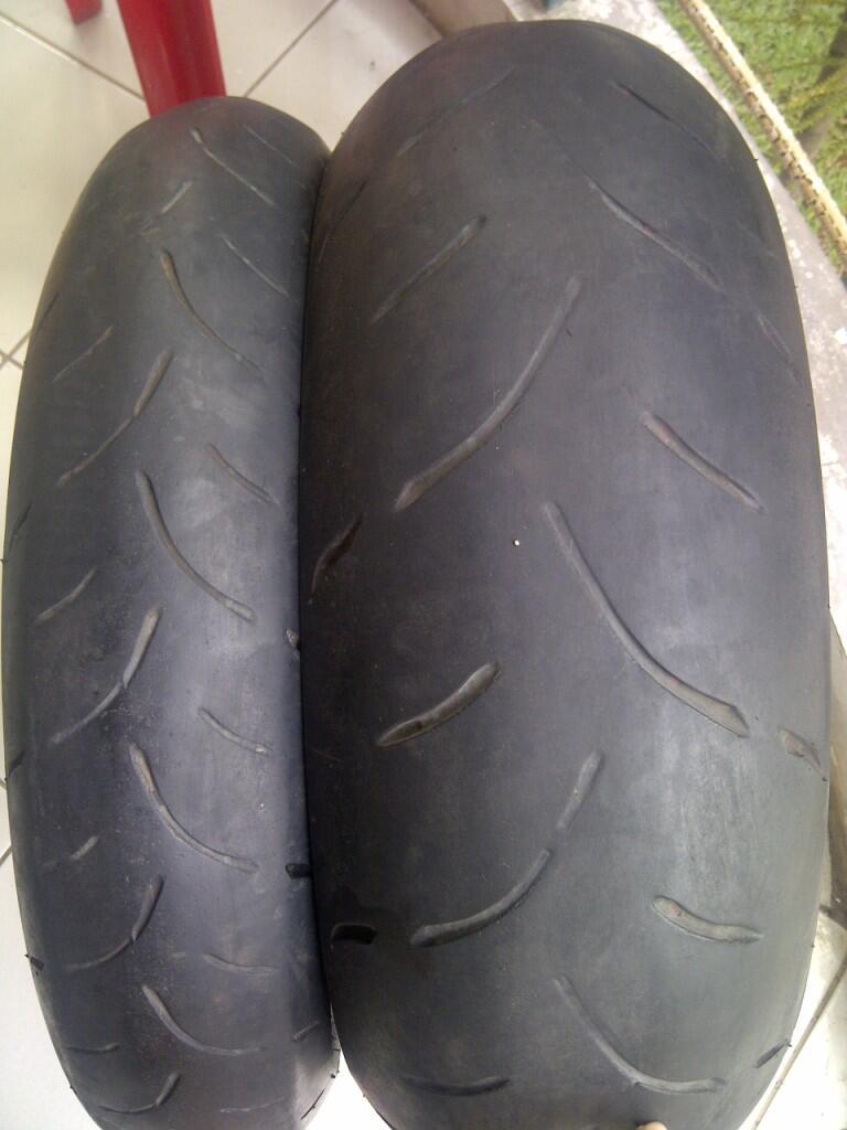 WTS: Ban Dunlop Sportmax ex Moge Uk. 120/70-190/50 DAN KNALPOT CUSTOM