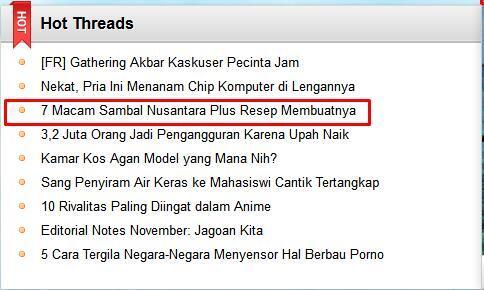7 Macam Sambal yang Terkenal di Nusantara