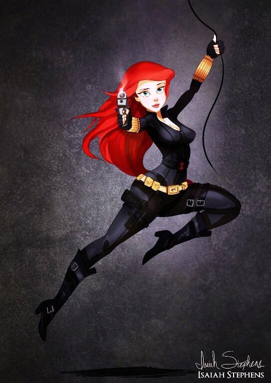 ~๑๑.Saat Putri Disney Mengenakan Kostum Karakter Hero.๑๑~