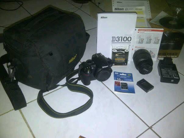 WTS kamera Nikkon D3100 kit 18-55mm vr murah bandung