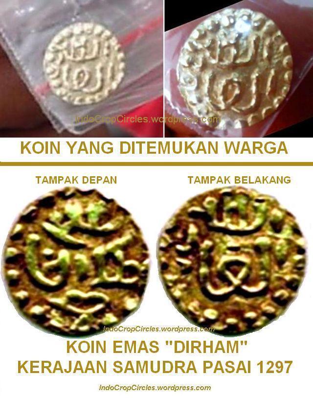 Uang Emas Berlafal Allah Ditemukan Warga Aceh Di Sebuah Rawa