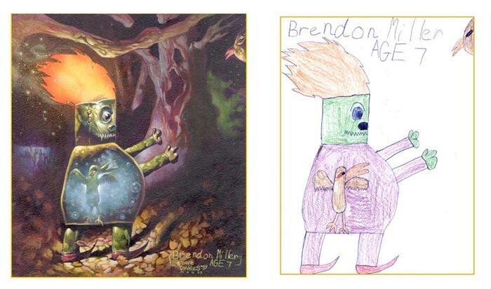 Lukisan Anak-Anak Dibuat Ulang Oleh Orang Dewasa