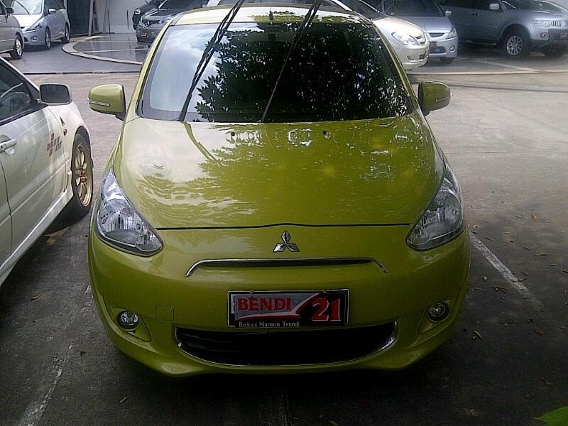 Mitsubishi Mirage Exceed hijau muda A/t 2012,mulus,siap pakai