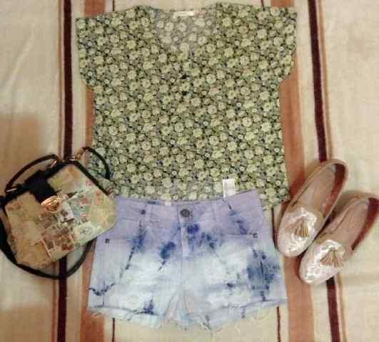 Lunamaya flower crop tee, Roxy Cardigan, velvet blouse & Pattern Top never Worn.