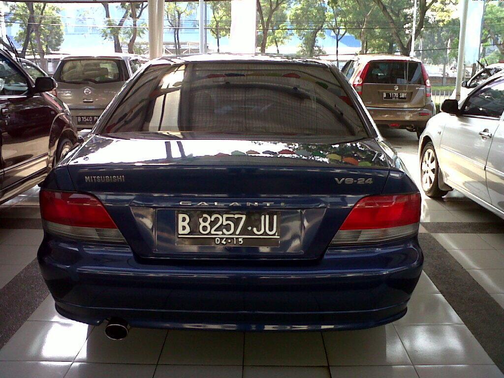 Mitsubishi Galant st at tahun 2005 biru metalik