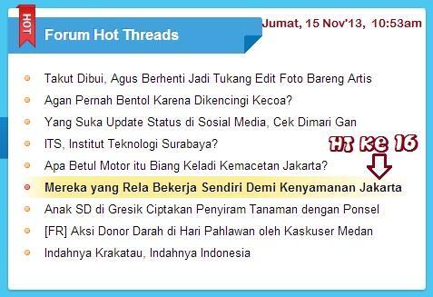 ~๑๑.Demi Kenyamanan Jakarta, Mereka Beraksi Sendiri.๑๑~