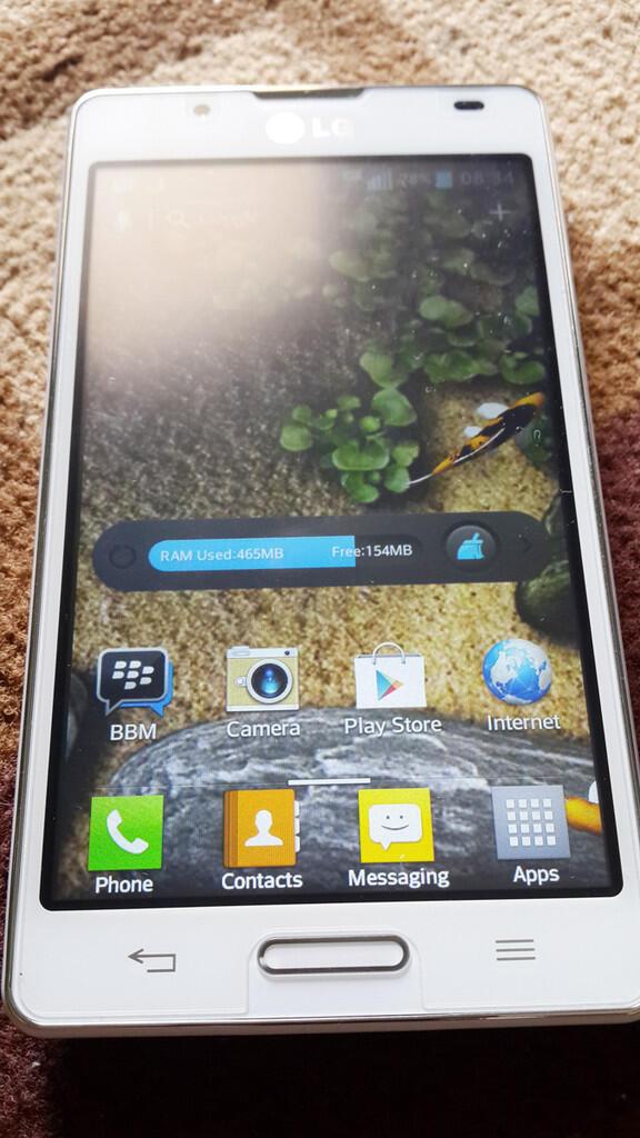 LG Optimus L7ii P713 White Baru 2 mingguan turun harga..
