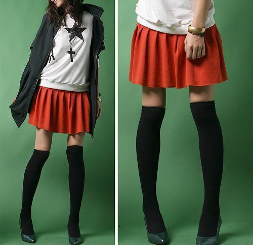 Korean Style (Unik): Overall Skirt, Floral Blazer, Long Cape, Accessories