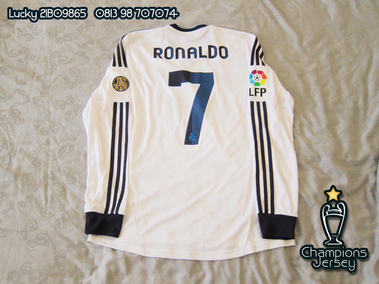 Real Madrid 2012-13 Longsleeve Nameset Ronaldo and Patch All Original