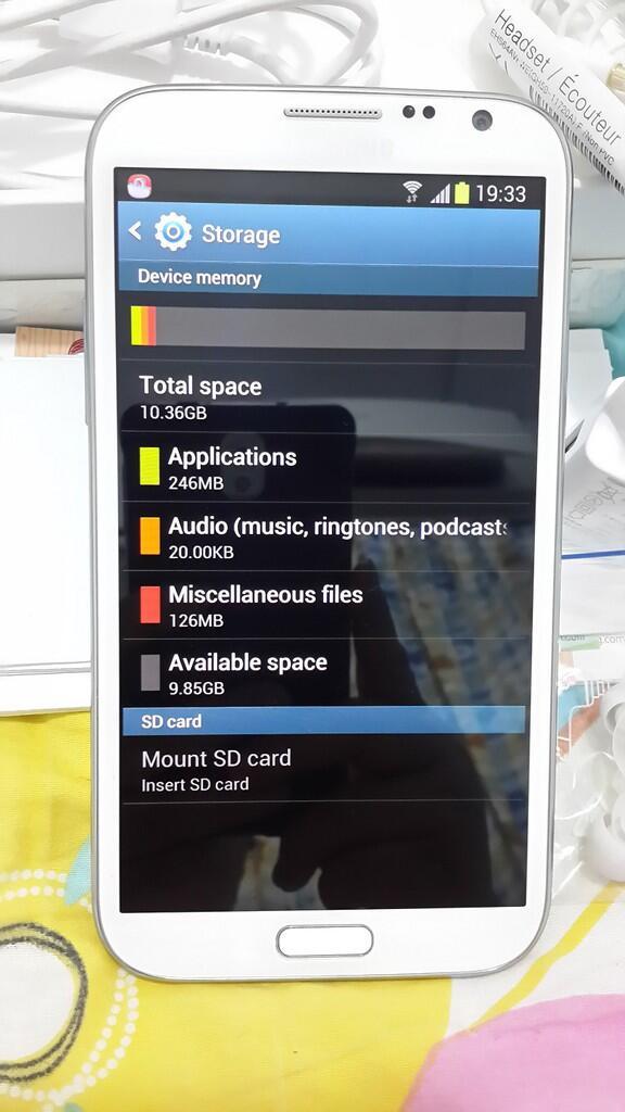 JUAL Samsung Galaxy Note 2 White 16gb ORI, Lengkap, Super Mulus