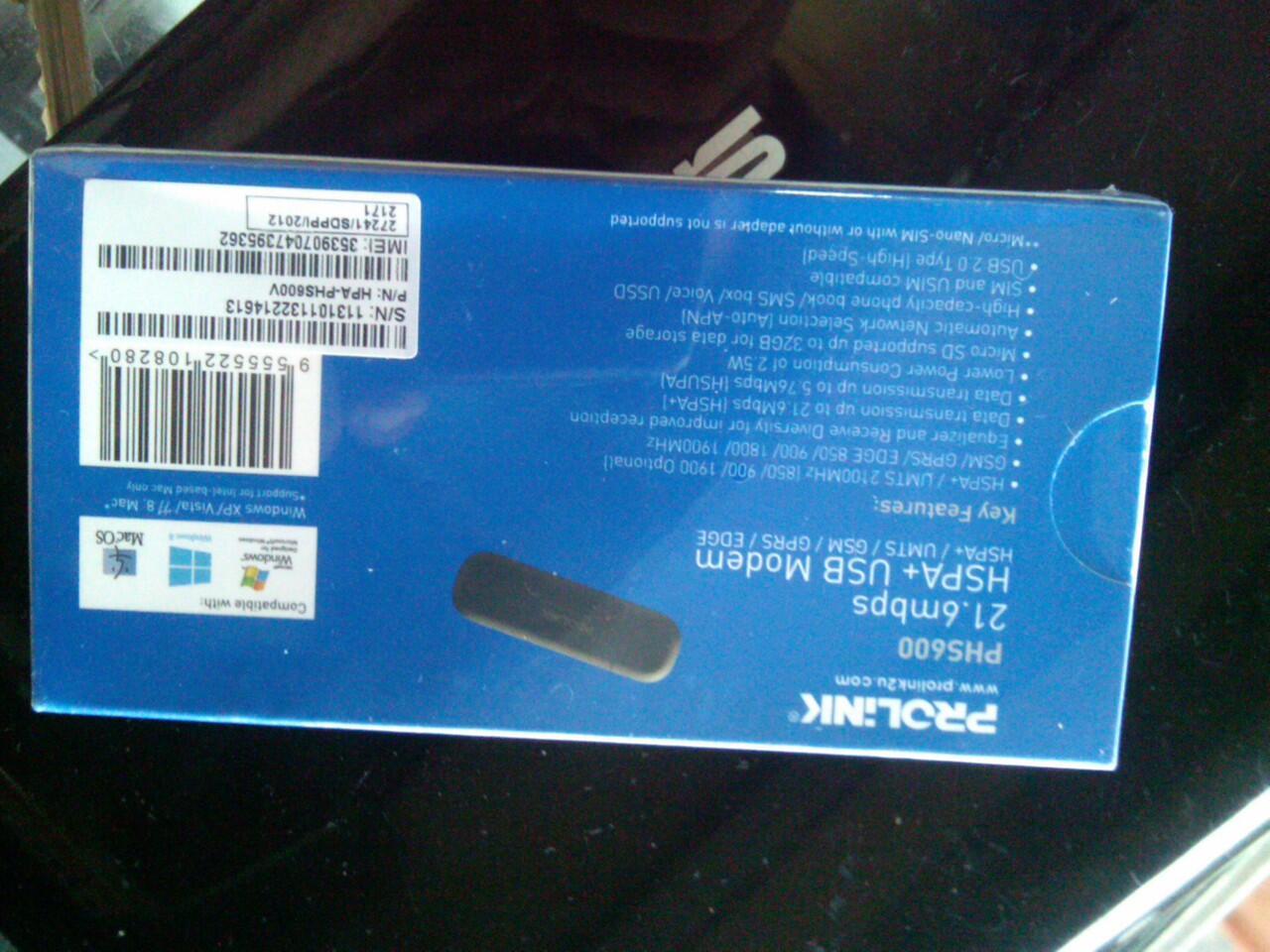 NEW modem Prolink PHS 600 21,6 mbps SOLO MURAH