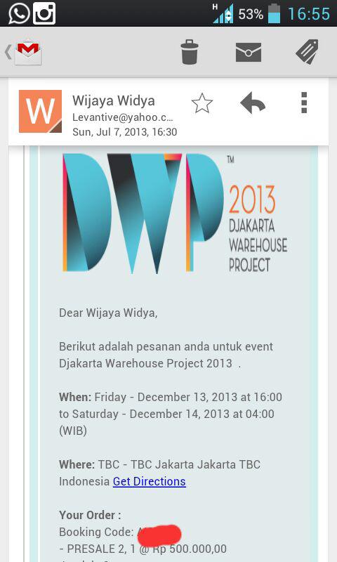 jual tiket DWP 2013