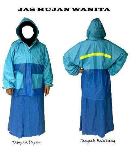 Jual Jas Hujan Wanita / Cewek/ Akhwat / Muslimah (Model Rok) Salsa
