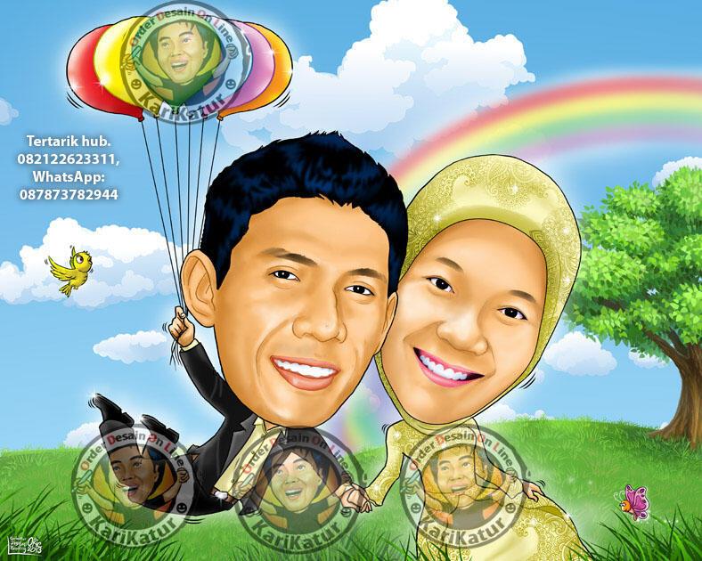 Karikatur Prewedding & Wedding, Farewell, Kado, dll
