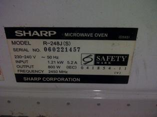 Microwave Sharp R-248J (S) (Depok)