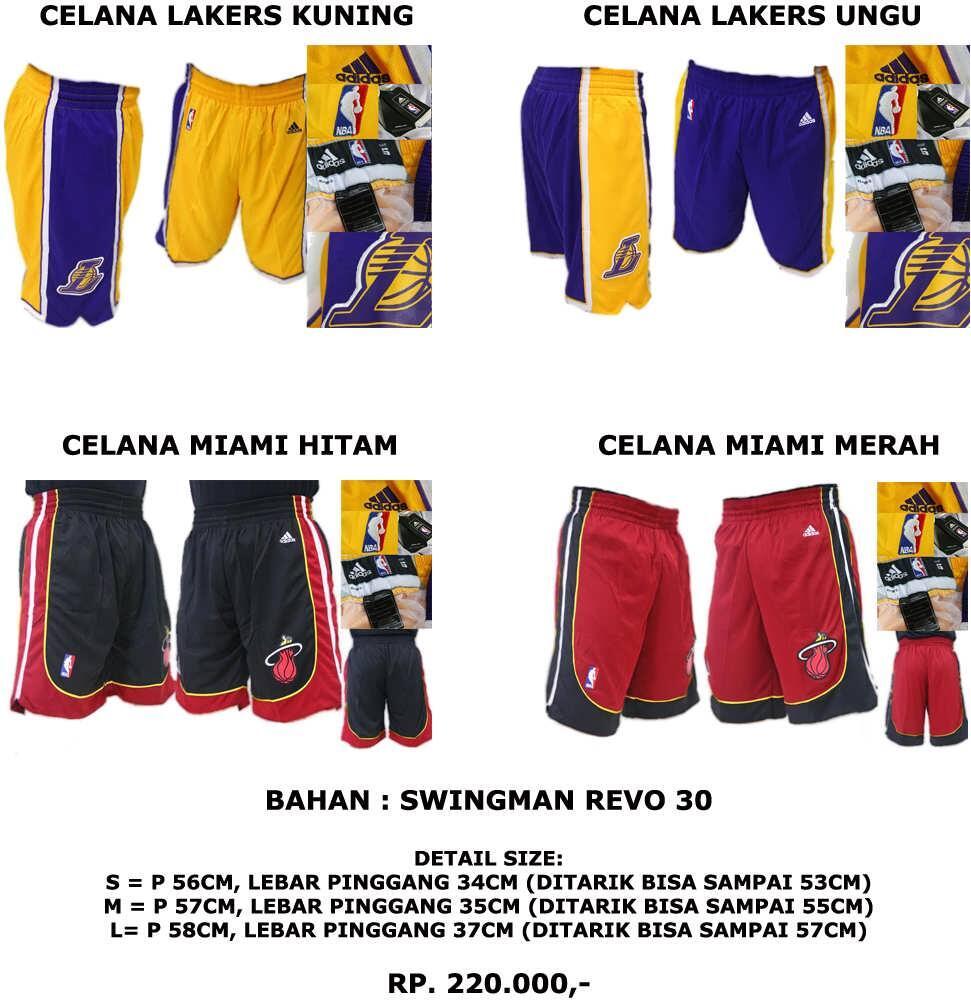 CELANA & JERSEY BASKET NBA SWINGMAN REVO GRADE ORI IMPORT,ALLSTAR,MIAMI,LA,LAKERS,DLL