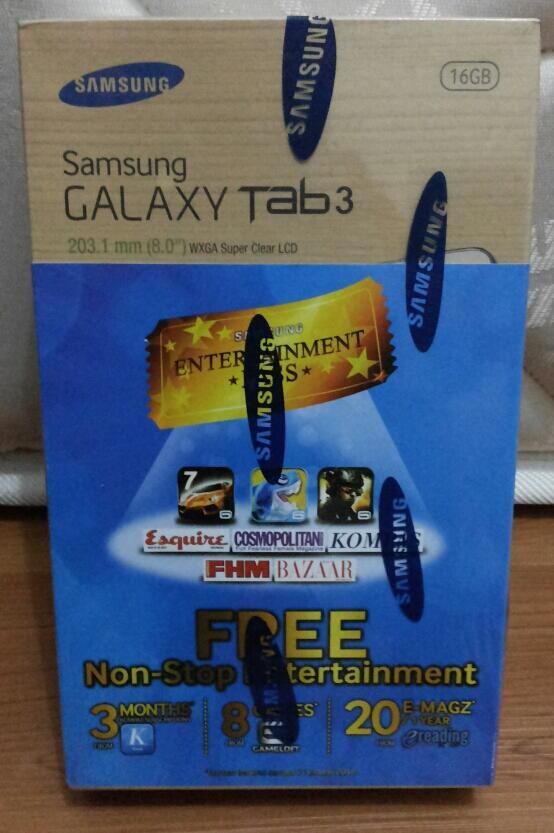 "Samsung Galaxy Tab3 8"" BNIB"