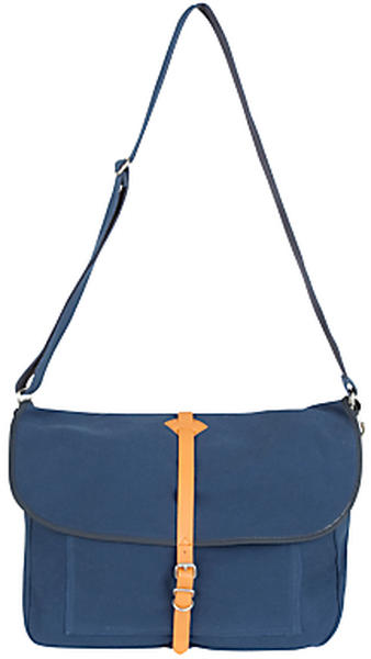 Fred Perry - Cotton Twill Satchel Messenger Sling Bag - Blue