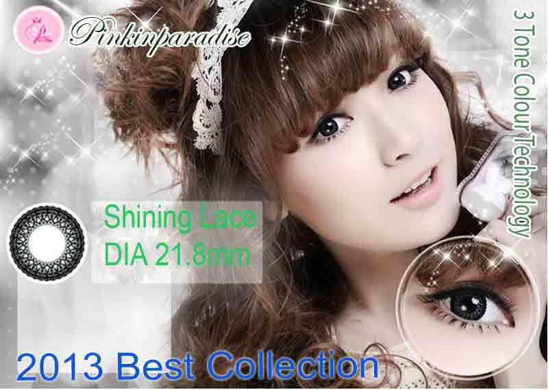 Korea Softlens SHINING LACE Soft Lens / Contact Lens 3 Tone Colour Technology