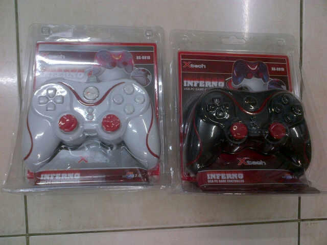 [VERDE] Ready Stock Controller/JoyStick Xtech Inferno White Black Single Double BNIB