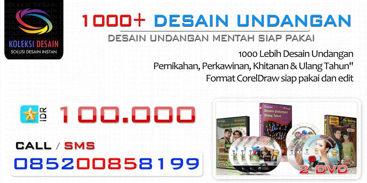 DVD Desain Undangan Nikah Coreldraw (1000+ Desain) EKONOMIS !